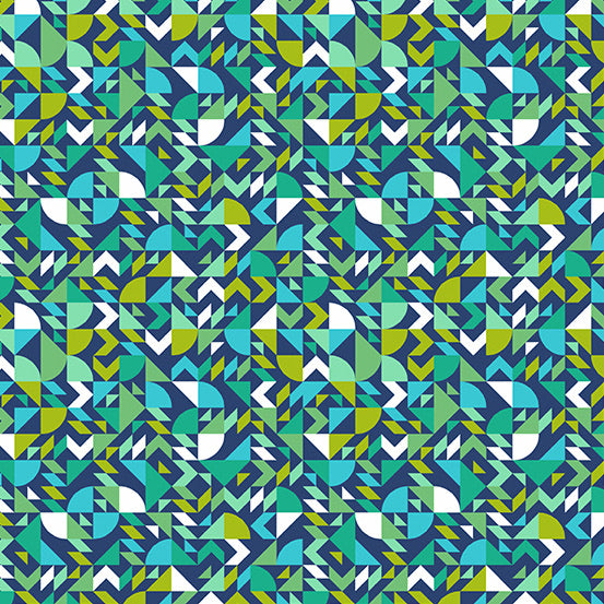 Andover Collective - Geometric - A9437T - Teal