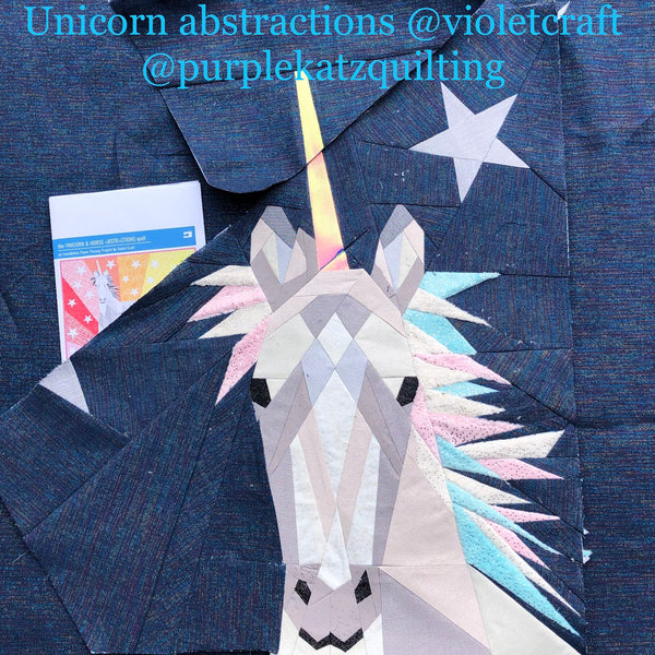 The Unicorn /& Horse Quilt Patterrn by Violet Craft
