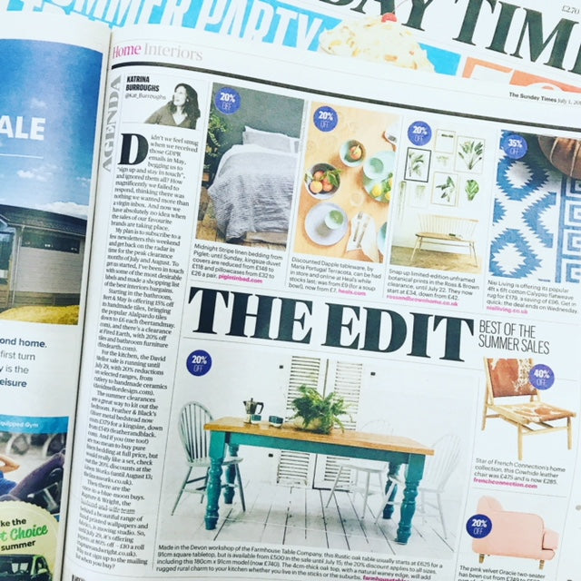 Sunday Times Launches Our Summer Sale
