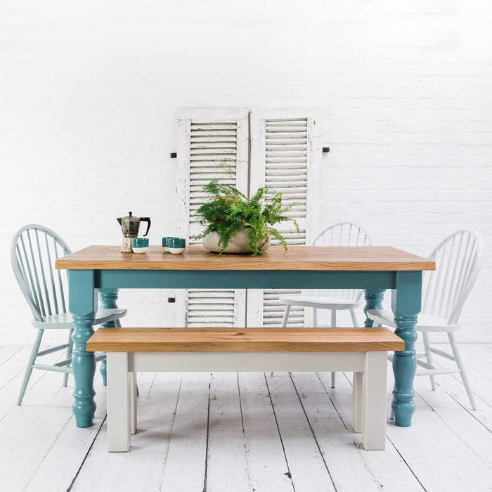 Rustic Oak Dining Table - Farmhouse Table Company