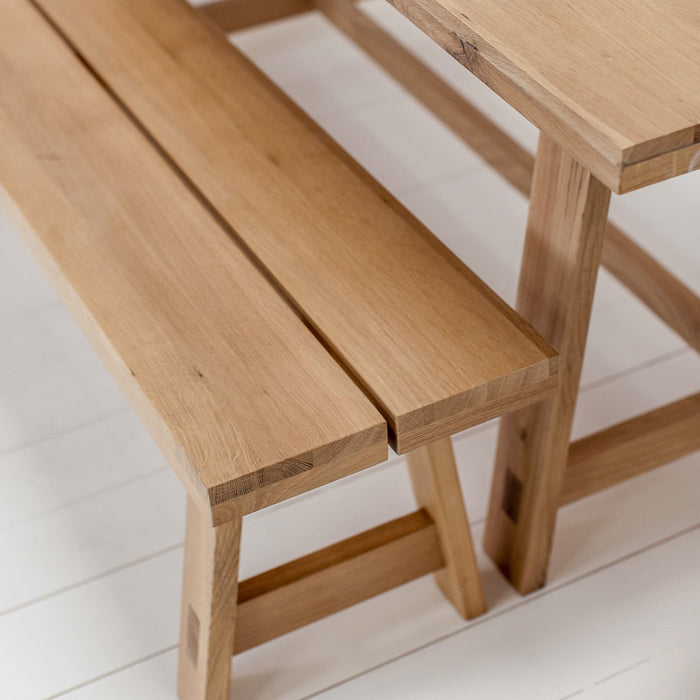 Tigley Oak Bench - 160 x 35 x 45cm - Farmhouse Table Company