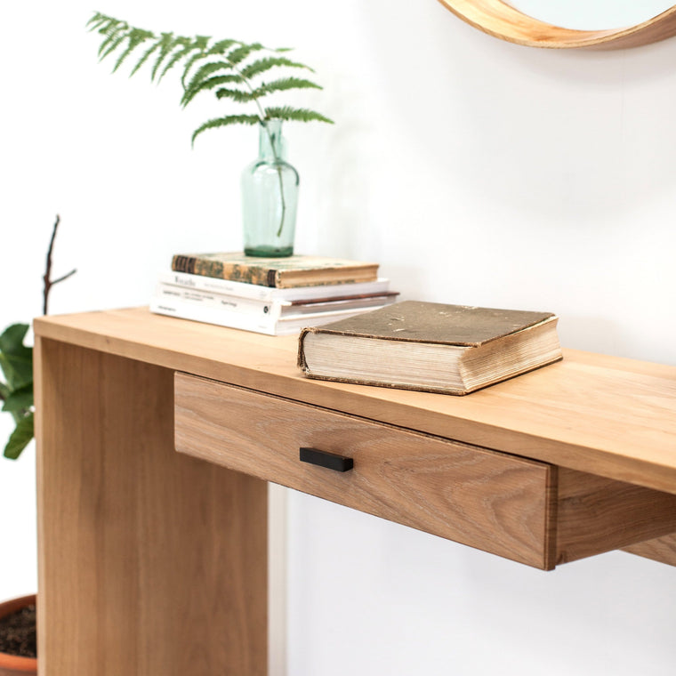 Tigley Oak Console Table 130 x 39 x 80cm - Farmhouse Table Company