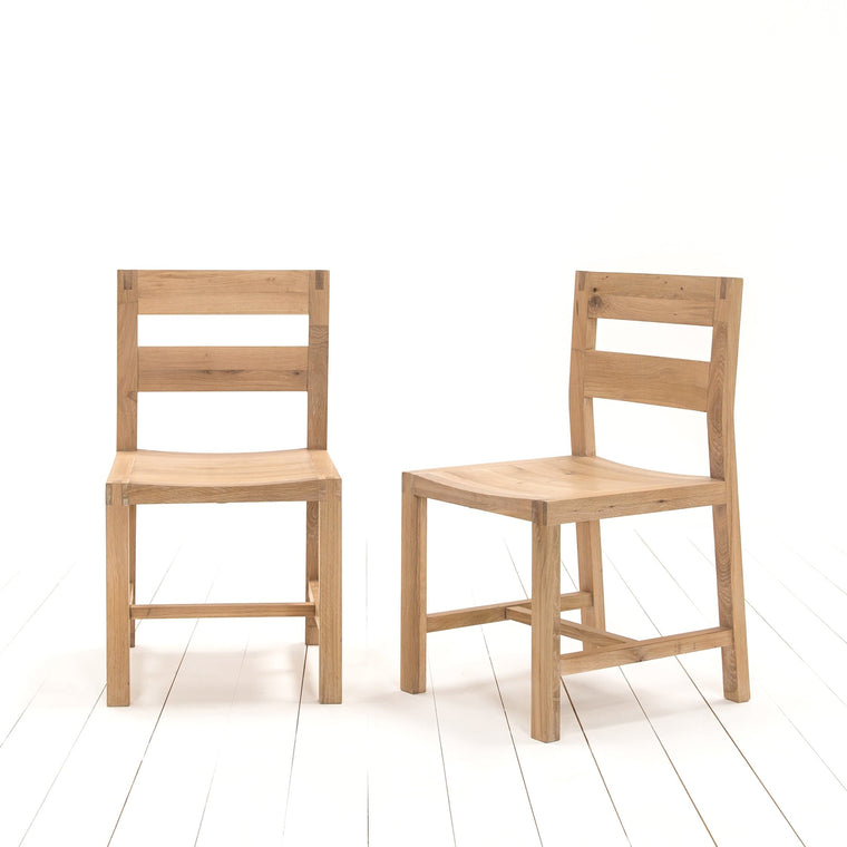 A Pair of Oak Tigley Chairs