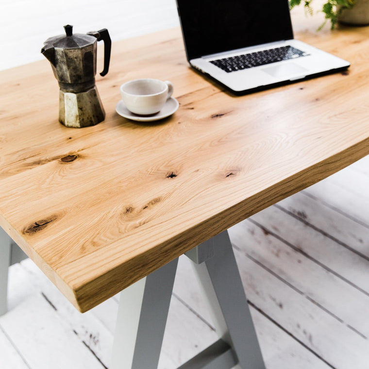 Rustic Oak Studio Table - Farmhouse Table Company