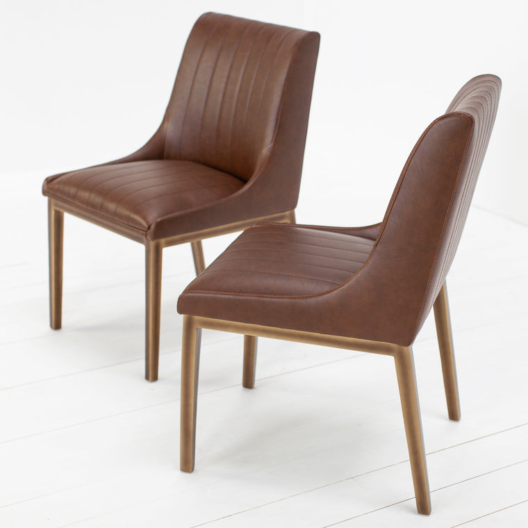 A Pair of Prawle Faux Bronze Chairs