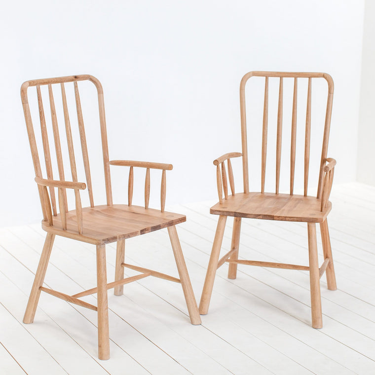 A Pair of Staverton Oak Carver Dining Chairs