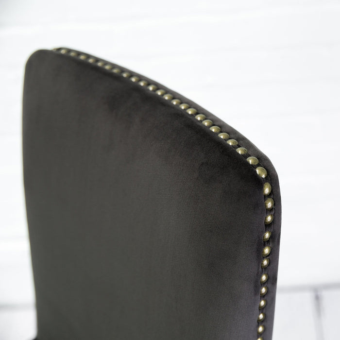A Pair of Mouse Velvet Rex Dining Chairs