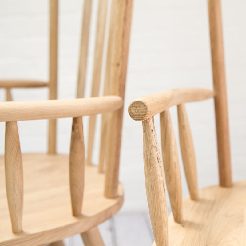 A Pair of Staverton Oak Carver Dining Chairs - Farmhouse Table Company
