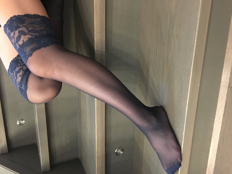 How well do thigh-high stockings stay up?