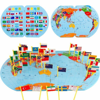 World map with 36 flags geography made fun dada gugu gaga world map with 36 flags geography made fun dadagugugaga gumiabroncs Gallery