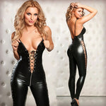 Sexy Lingerie Hot Women Prisoners Wild Charm Pu Leather Teddy Sexy Babydoll Erotic Lenceria Club Mini Dress Costumes