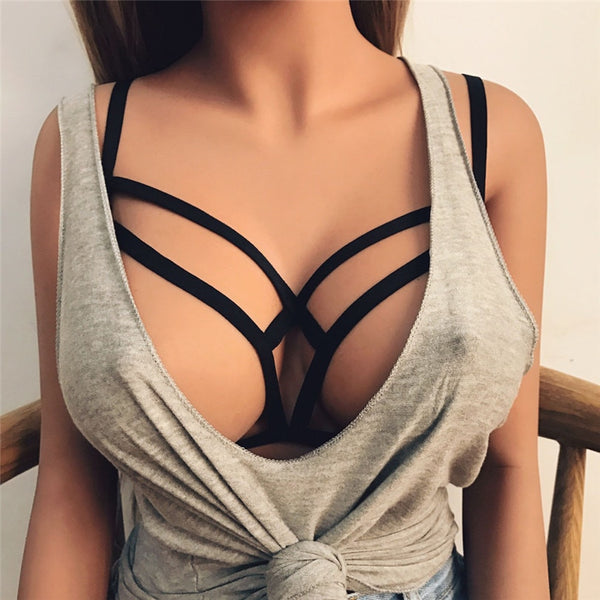 Sexy Soild Wire Bra Bustier Sheer Top Seamless Bralette Transparent Cup Hollow Out Bras Brassiere Lingerie Useful #TH4150
