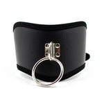Lady Black PU Leather Collars Chastity Neck Collar Fetish Choker Bondage Restraint Sex Toys For Adult Games