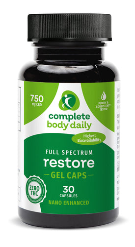CBD Restore | nano-enhanced softgels - Complete Body Daily