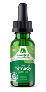 CBD Remedy | 500mg tincture - Complete Body Daily