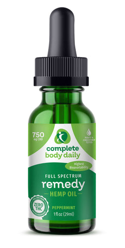 CBD Remedy | 750mg tincture - Complete Body Daily