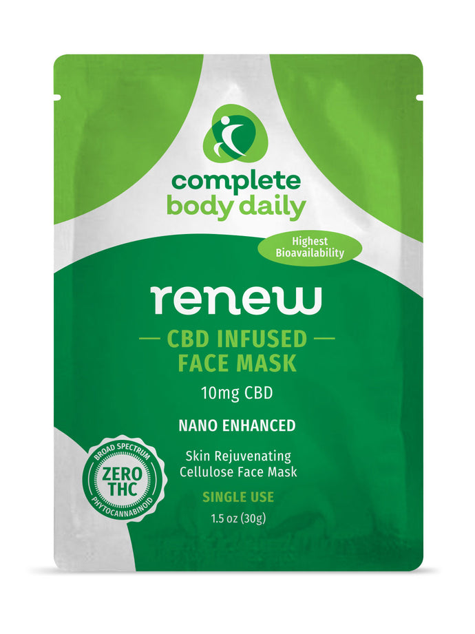 CBD Renew | cellulose face mask - Complete Body Daily