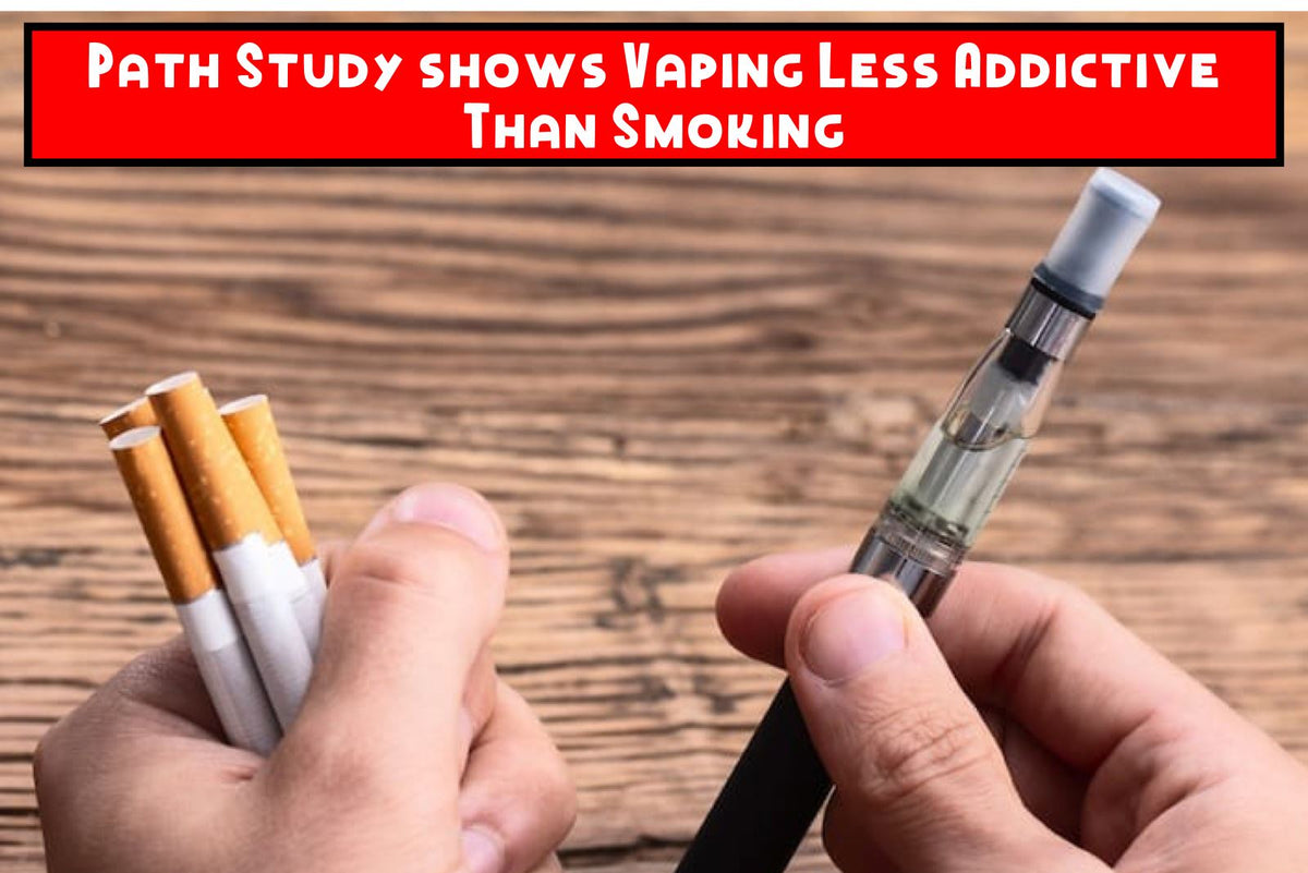 Path Study shows Vaping Less Addictive Than Smoking