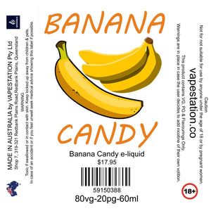 Banana Candy e-liquid - VAPE STATION - VAPE STATION