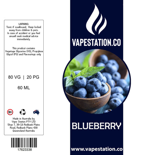 Blueberry eLiquid 60ml eLiquid Vape Station