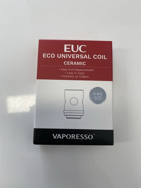 EUC coils ceramic, mesh and traditional (5 pack) Accessories Vape Station Brown ceramic 0.6 ohm