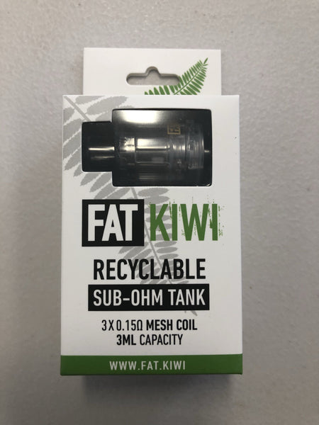 Fat Kiwi disposable tanks (x 3 ) VAPE STATION