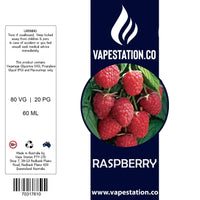Raspberry Standard Eliquid 100ml VAPE STATION