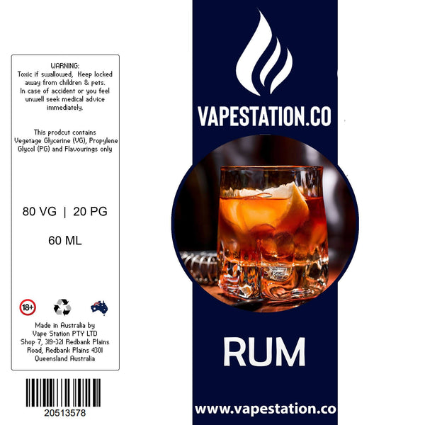 Rum e-liquid 60ml VAPE STATION