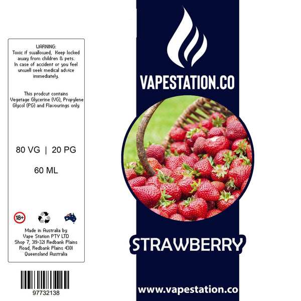 Strawberry Standard E-liquid 100ml VAPE STATION