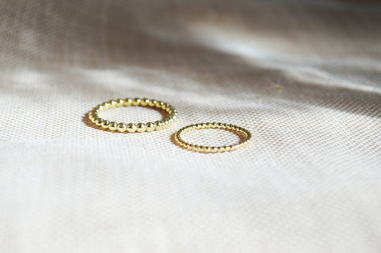Sustainable ring recycled gold
