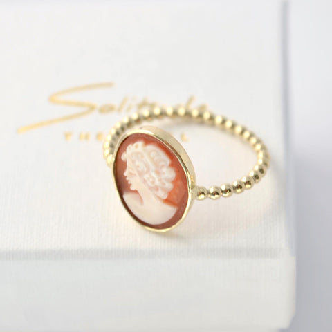 cameo ring goud
