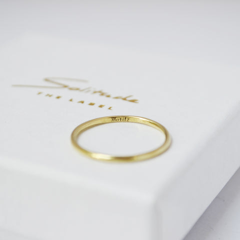 simple wedding ring gold