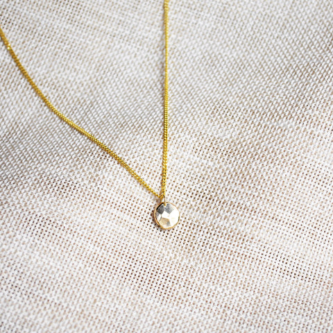 SOLITUDE_golden gem necklace_custom made_14k gold_webshop