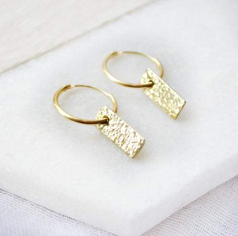 GOLDSMITH EARRINGS HANDMADE 14K GOLD