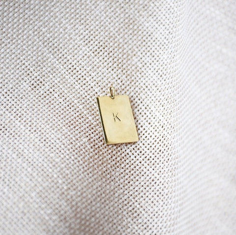 SOLITUDE_initial necklace_custom made_14k gold_webshop