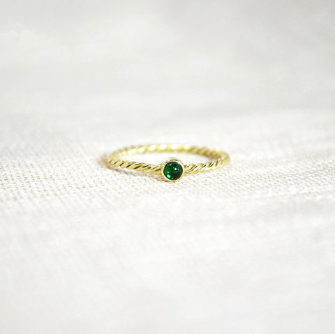 birth stone ring gold