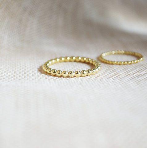 Gold 14k dotted ring