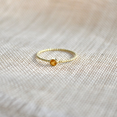 Citrine ring gold