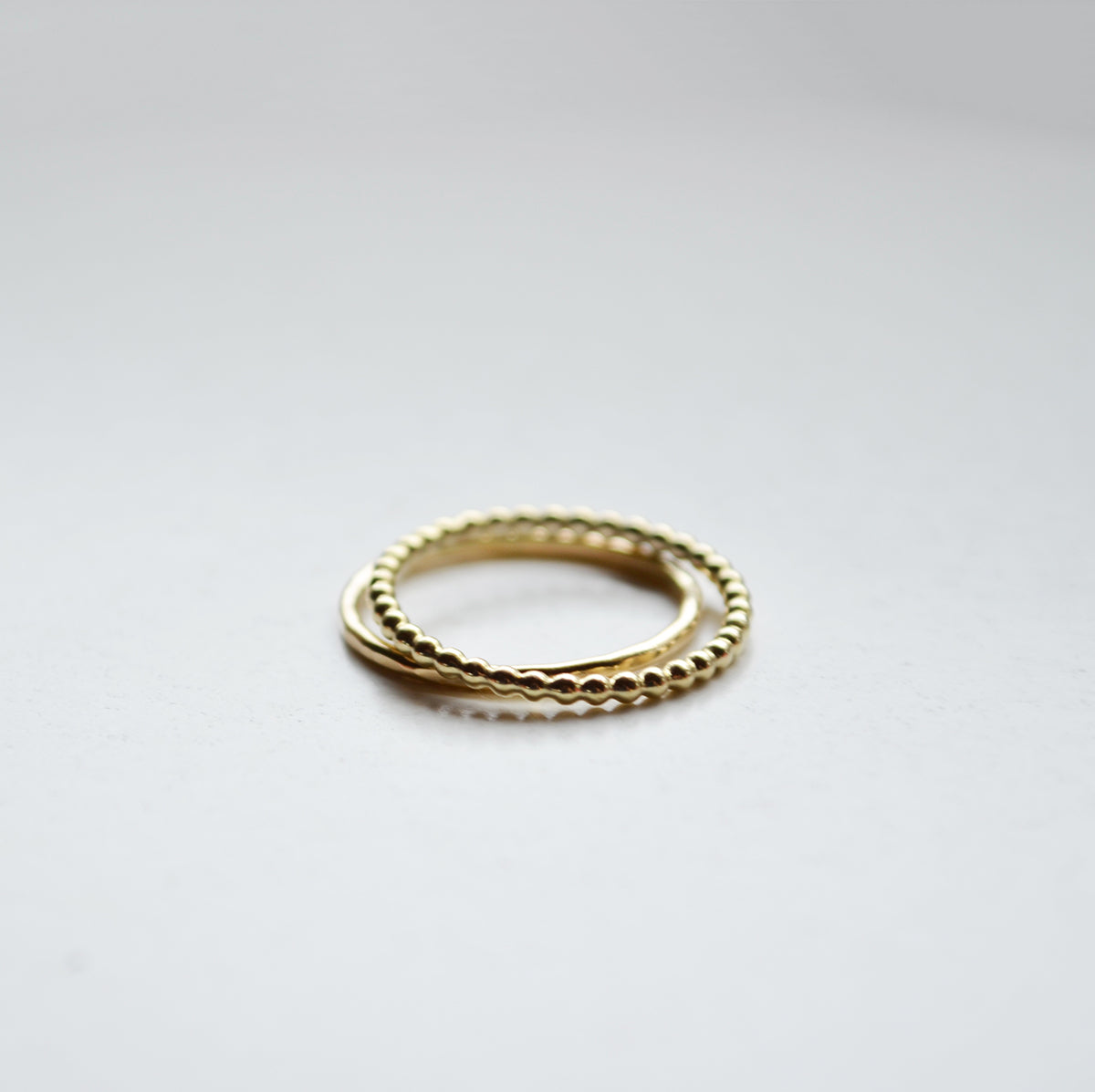 Hammered ring - 14K GOLD