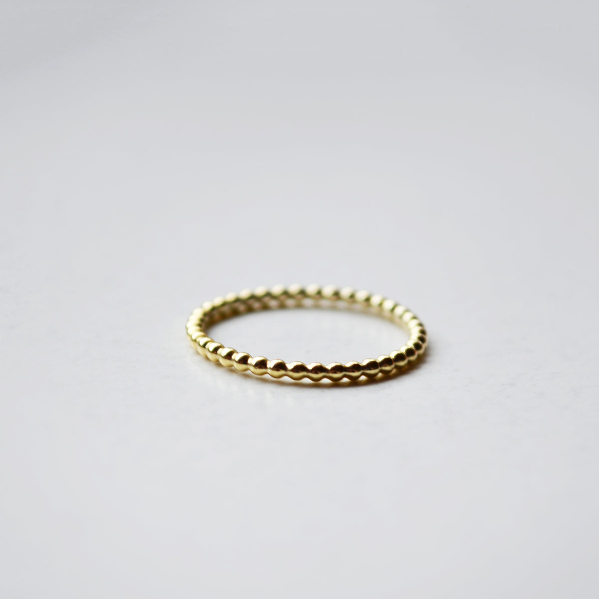 Dotted ring - 14K GOLD