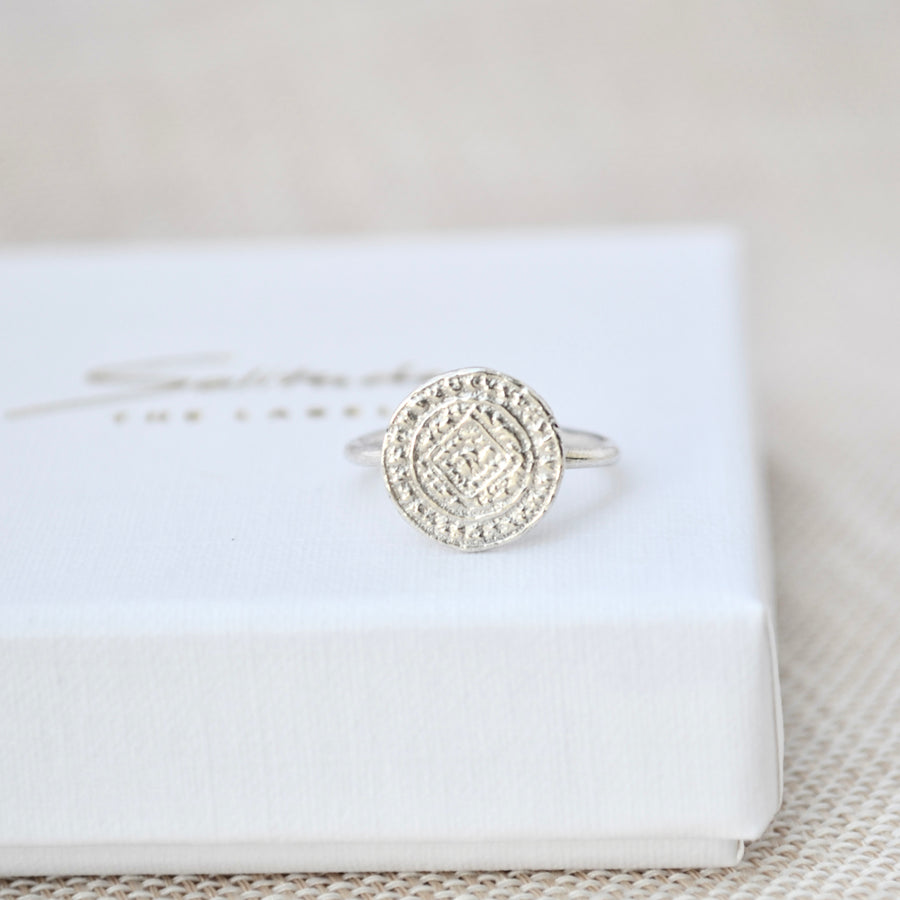 Coin Ring - Zilver