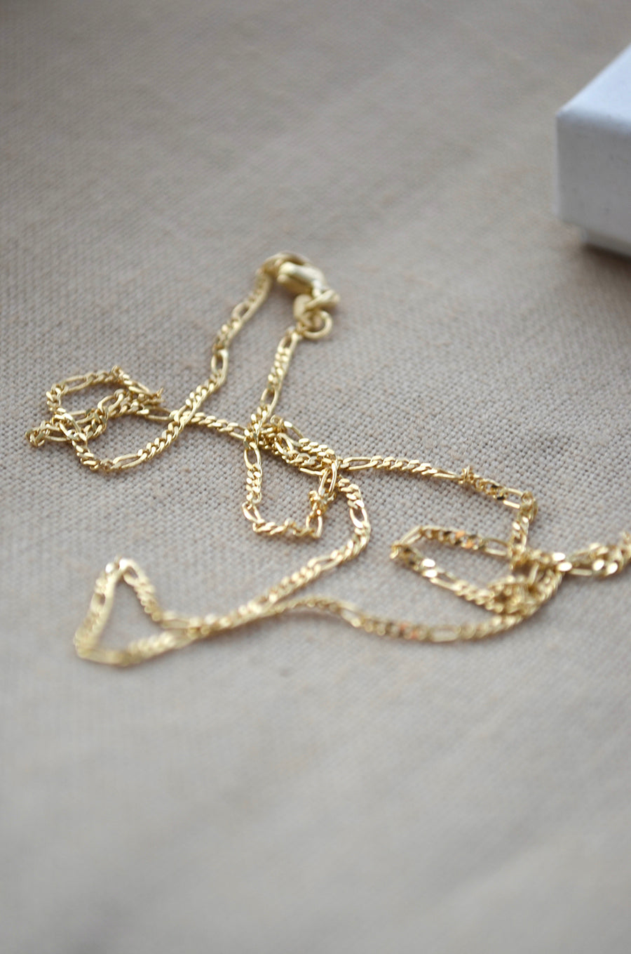 Chunky Figaro Necklace - Gold 14k