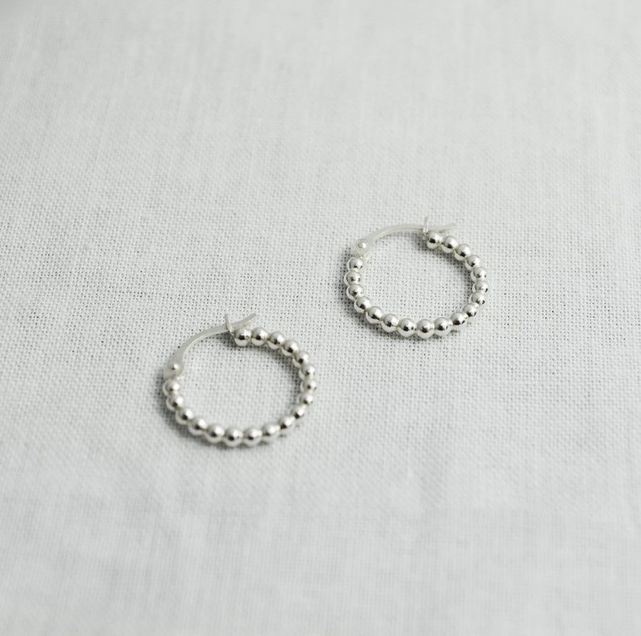 Dotted Earhoops - Silver