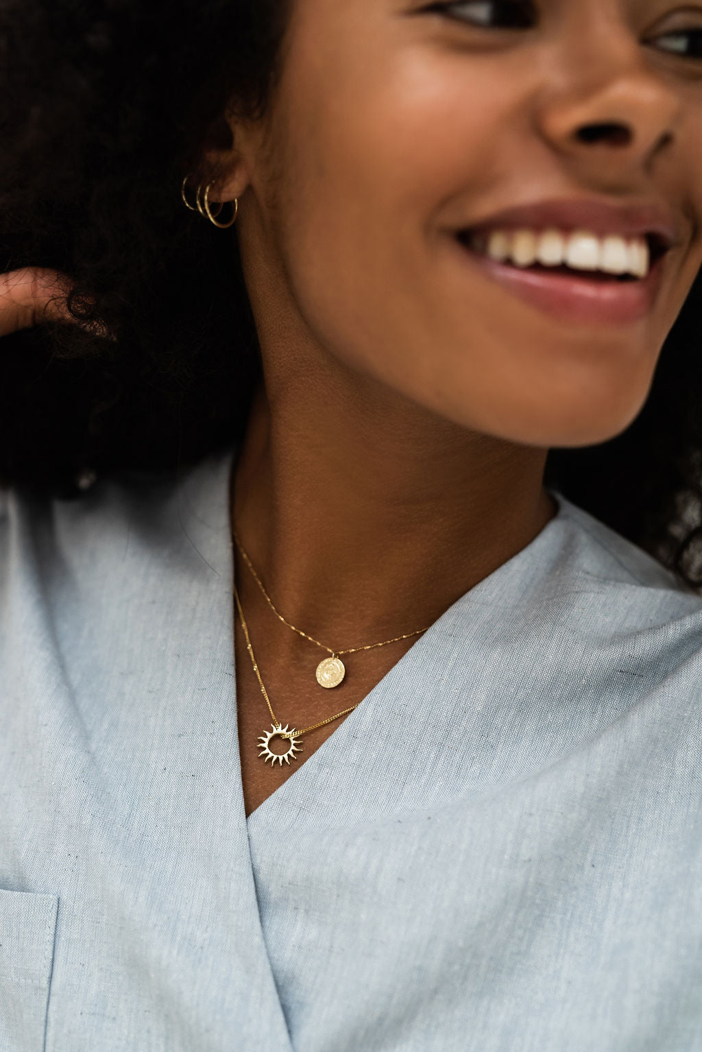 Coin Necklace - 14K GOLD