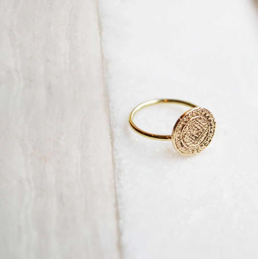 Coin ring - 14K GOLD