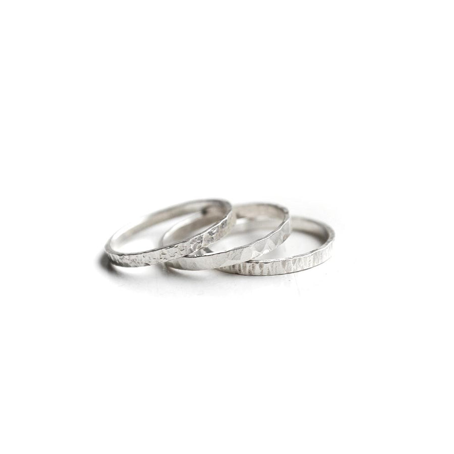 Element ringen (set van 3) - Zilver