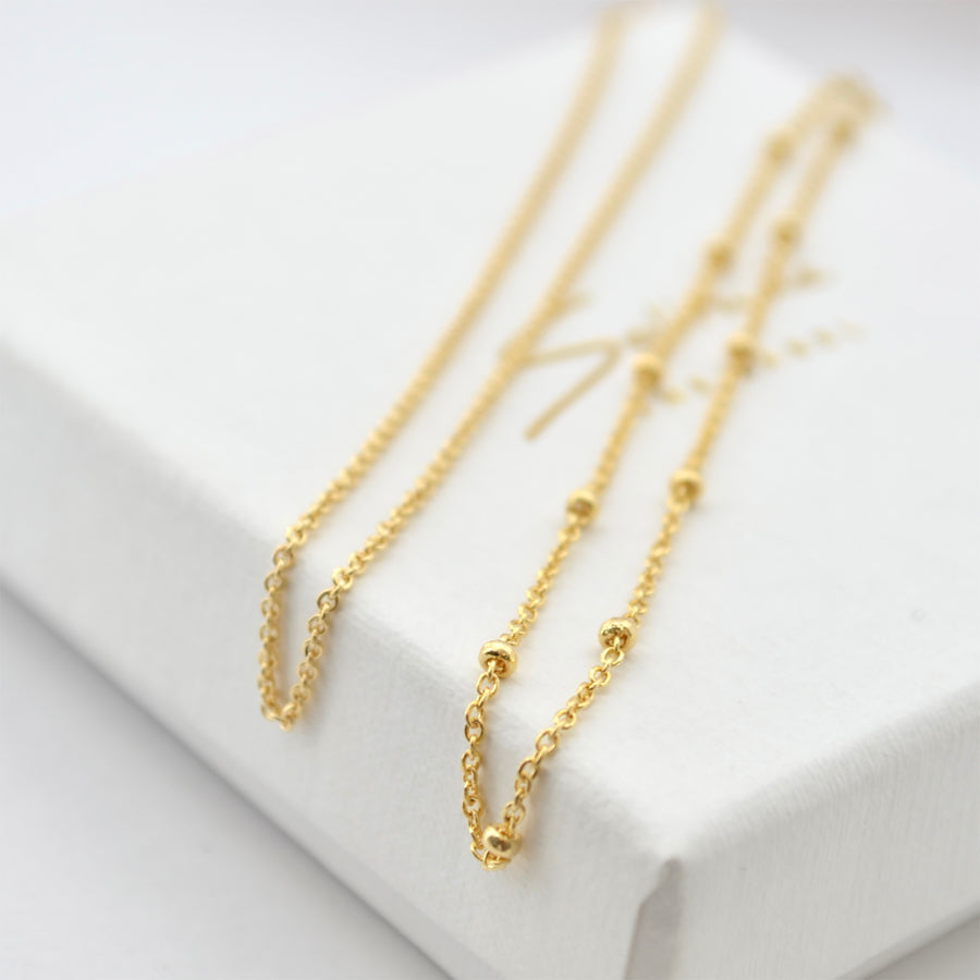 Subtle Chain Bracelets - Gold 14k