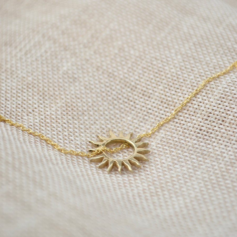Sun necklace - 14K Goud