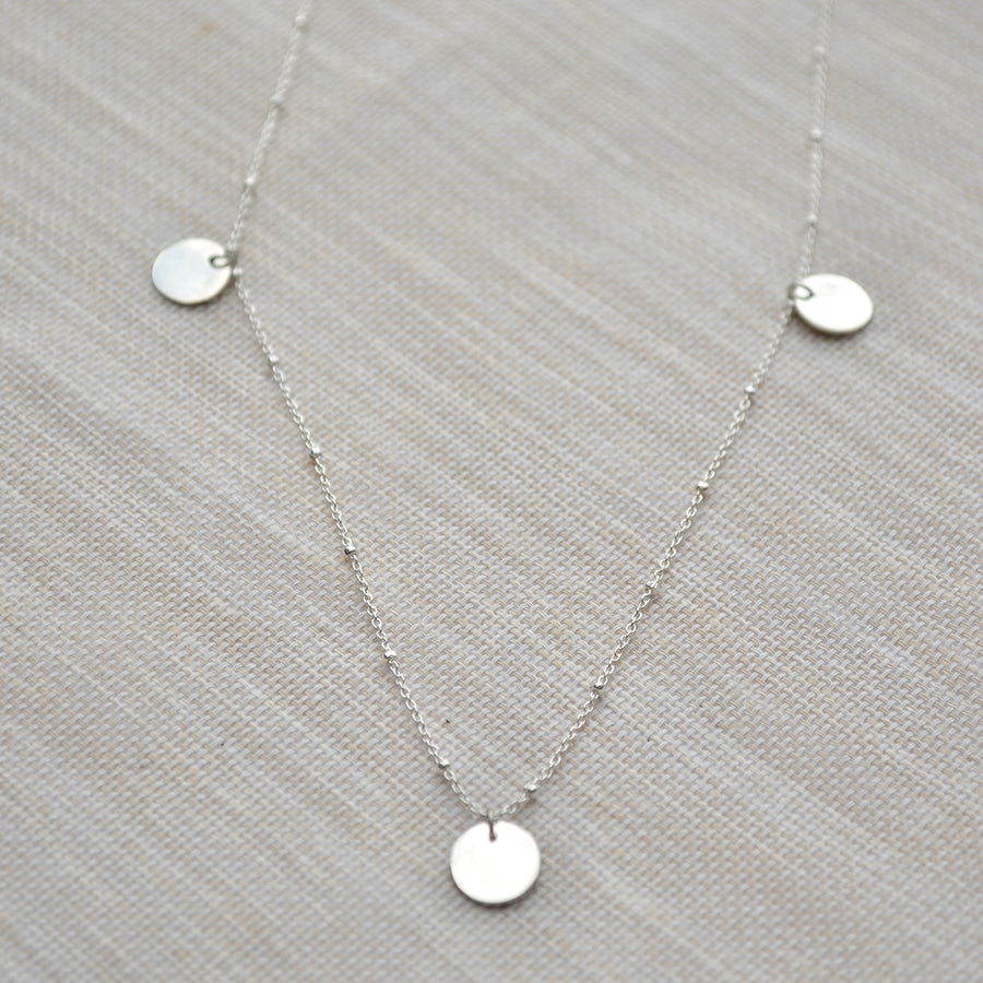 Three Coin Necklace - Silver