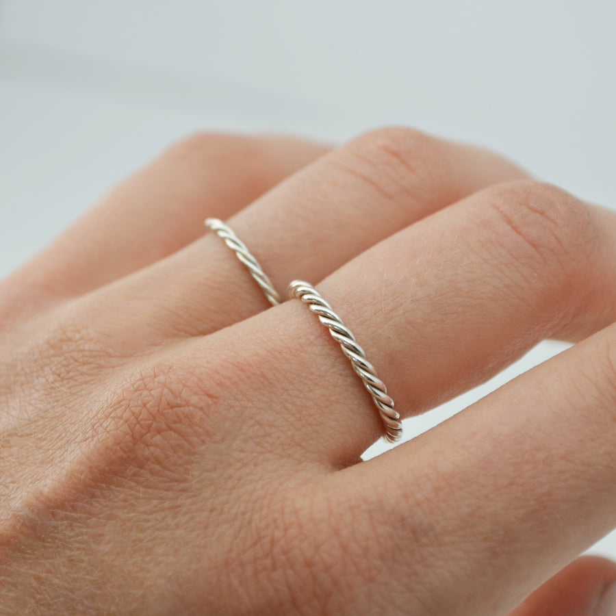 Twisted ring - Zilver